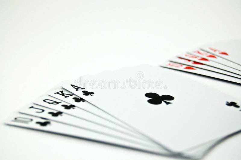 Póker Seriers foto de archivo