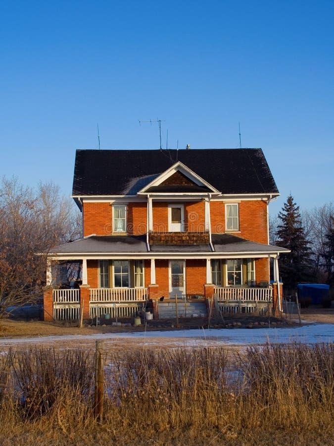 pól uprawnych dom obrazy stock