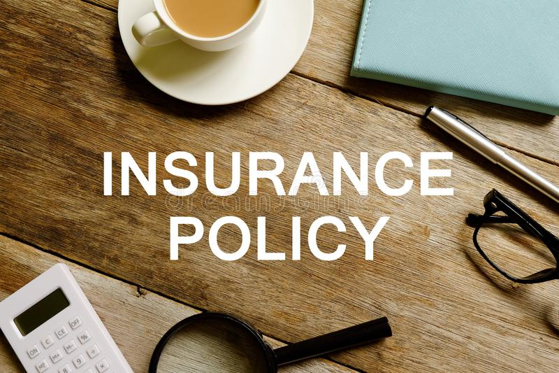 Póliza de seguro foto de archivo