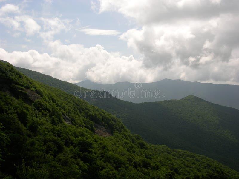 Pólnocna Karolina Dymiące góry zdjęcia royalty free