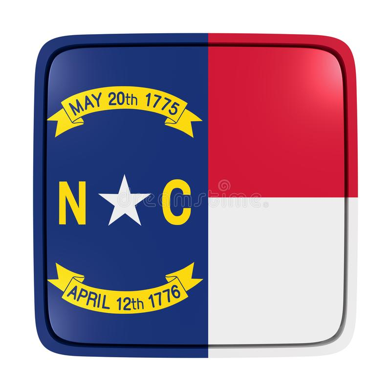 Pólnocna Karolina flaga ikona ilustracji