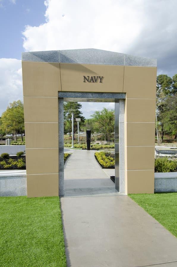 Pólnocna Karolina weteranów park, Fayetteville-22 Marzec 2012: Parkuje oddanego wszystkie NC weterani w stanie zdjęcia stock