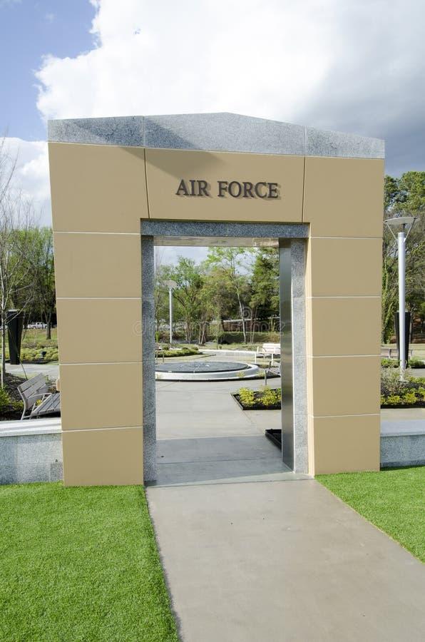 Pólnocna Karolina weteranów park, Fayetteville-22 Marzec 2012: Parkuje oddanego wszystkie NC weterani w stanie fotografia stock