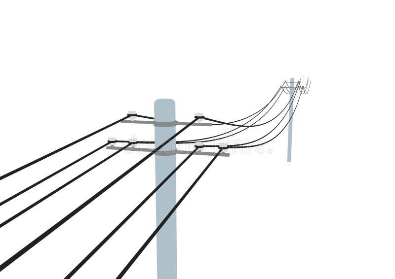 Pólo de telégrafo ilustração do vetor