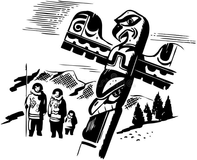 Pólo de Totem ilustração royalty free