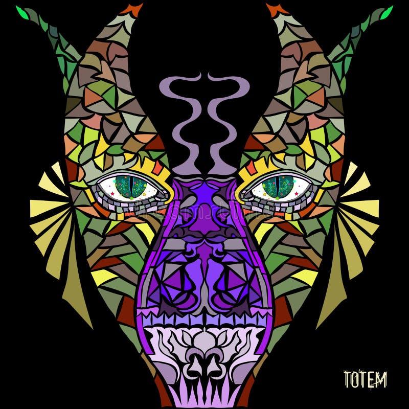 Pólo de Totem Vector a imagem no estilo da arte abstrato, feito em uma maneira levemente psicadélico ilustração do vetor