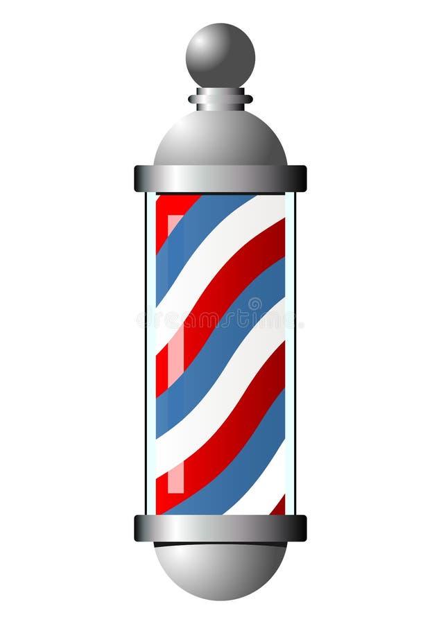 Pólo do barbeiro ilustração stock