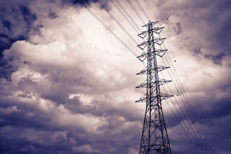 Pólo elétrico do poder superior fotos de stock