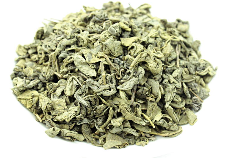 Pólvora Indonesia del té verde foto de archivo