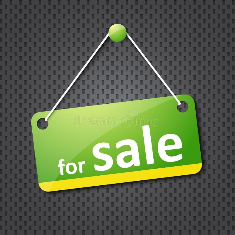 Póngase verde para la muestra de la venta libre illustration