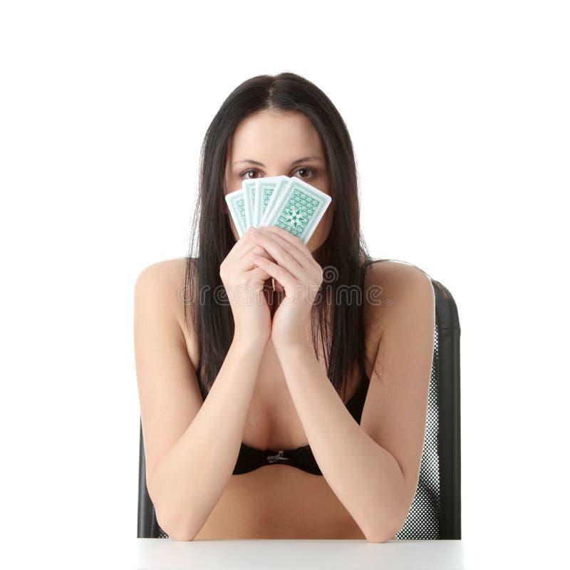 Download Póquer imagem de stock. Imagem de olhar, expressão, senhora - 12801103