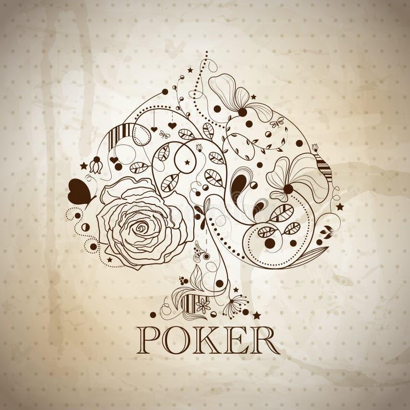Póquer ilustração royalty free