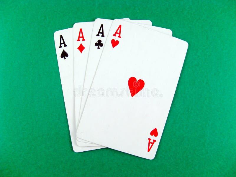 Póquer do cartão do ás que joga imagens de stock