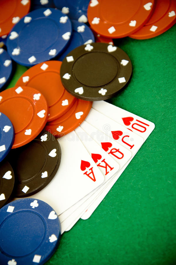 Póquer do coração foto de stock royalty free