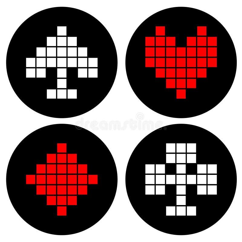 Póquer do pixel ilustração stock