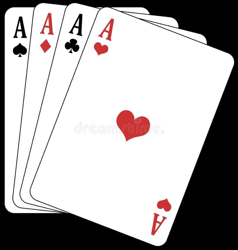 Póquer dos ás! ilustração stock