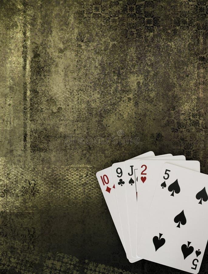 Póquer dourado de Grunge fotografia de stock royalty free