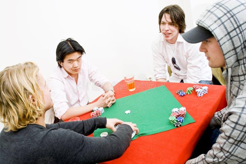 Póquer ocasional foto de stock