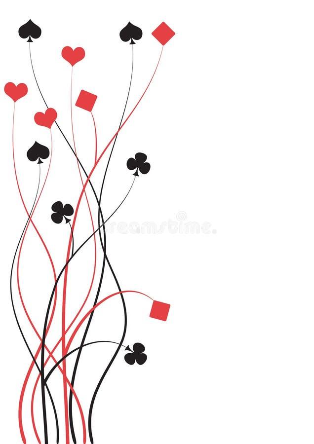 Póquer, ponte ilustração stock