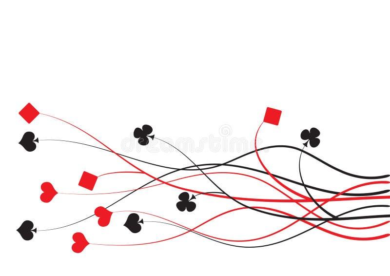 Póquer, ponte ilustração do vetor