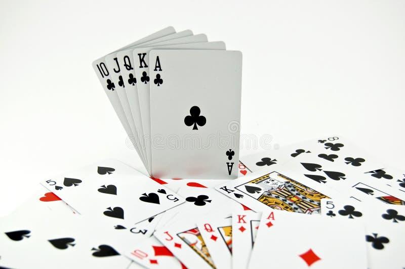Póquer Seriers imagens de stock
