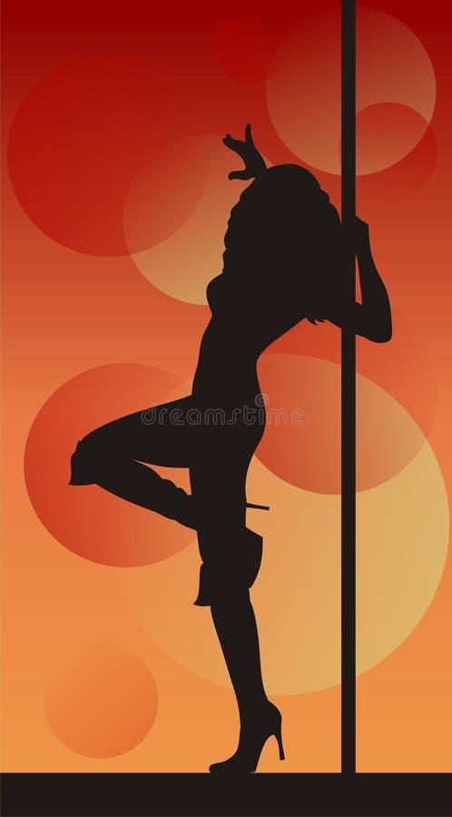 Pôle-danseur illustration de vecteur