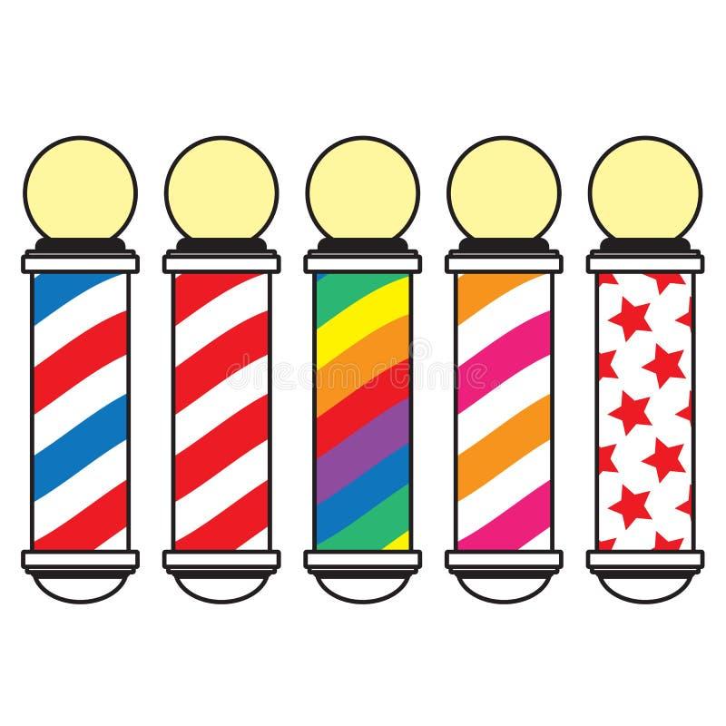 pôle de coiffeur illustration de vecteur