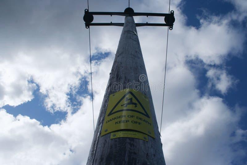 Pôle de l'électricité photo libre de droits