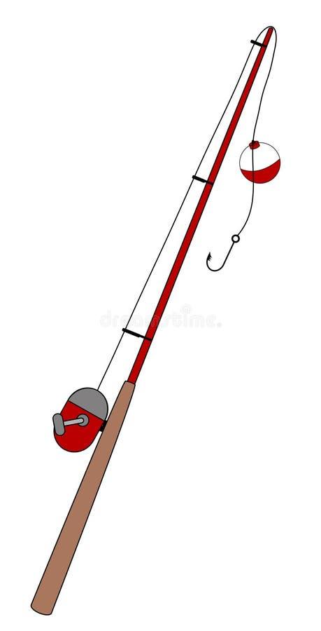 pôle de pêche illustration de vecteur