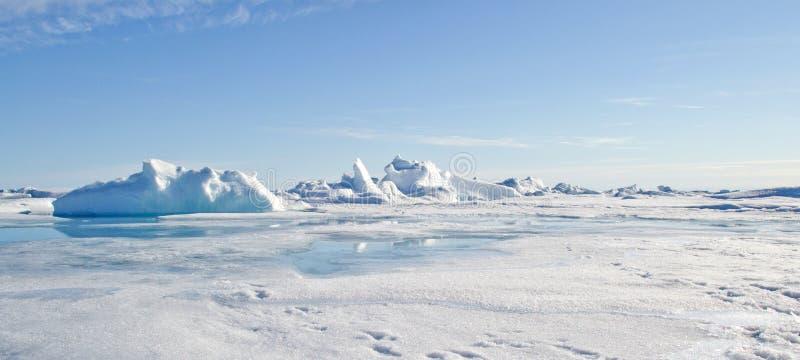 Pôle Nord géographique photo stock