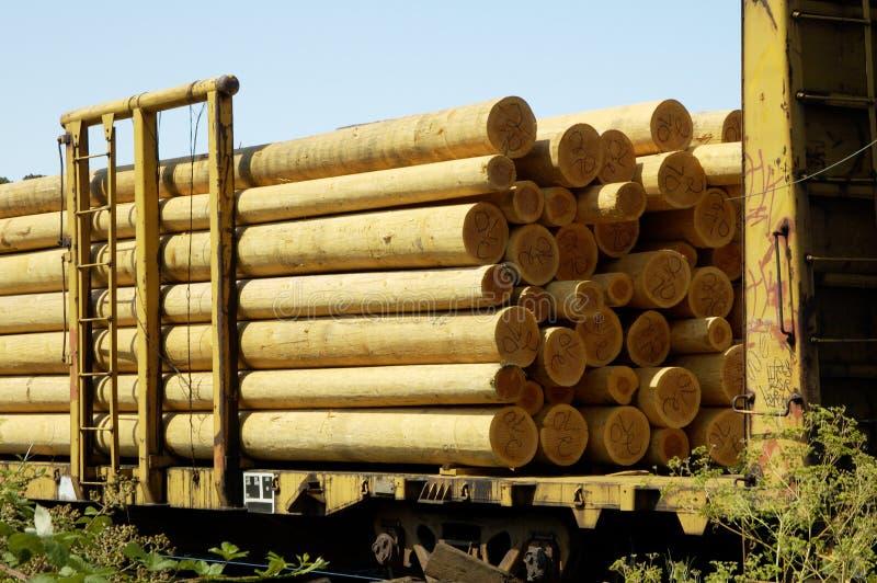 Pôles en bois 1 photos stock
