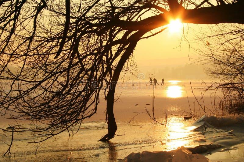 Pôr-do-sol foto de stock