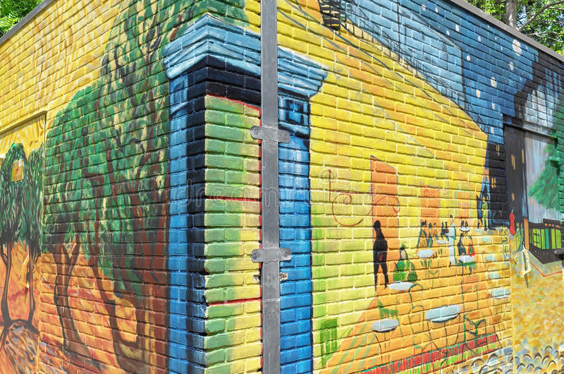 Põe a casa pintada com as pinturas de Vincent van Gogh fotos de stock