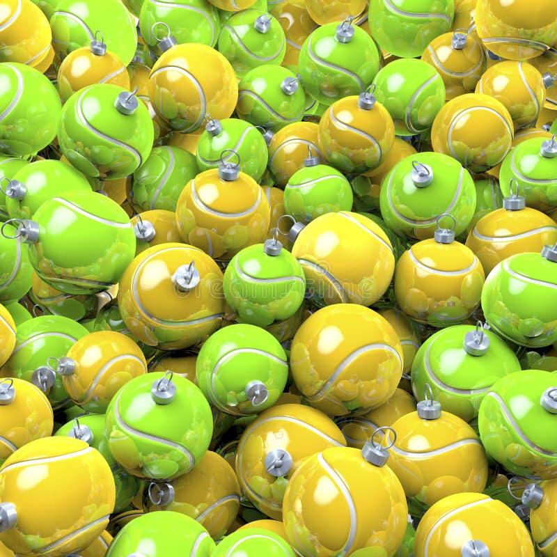 Pöl av tennisjulbollar vektor illustrationer