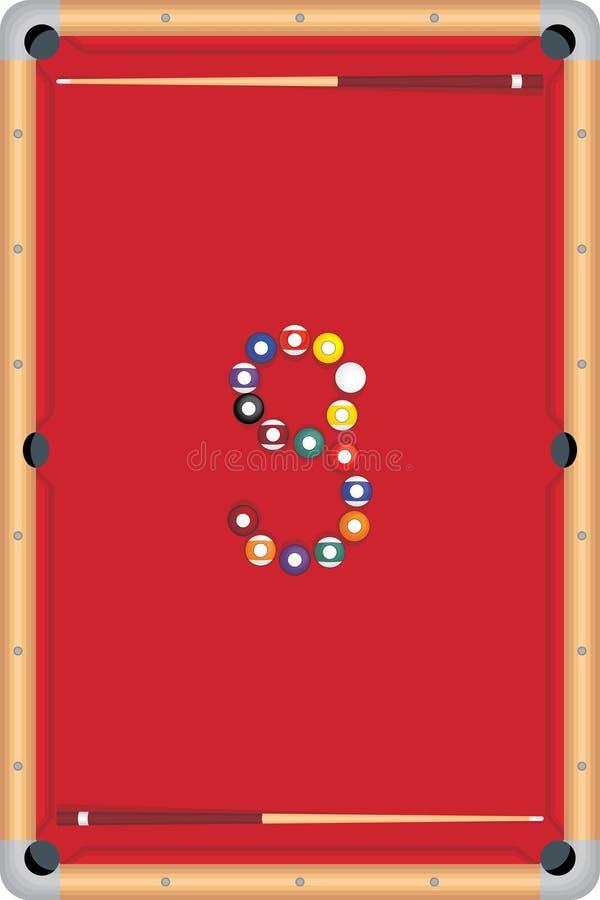 pöl för boll åtta vektor illustrationer