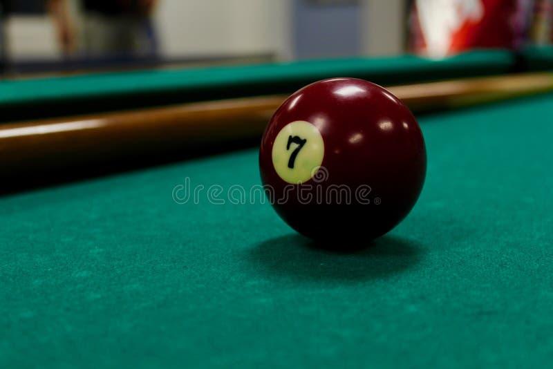 pöl för 7 boll royaltyfria bilder