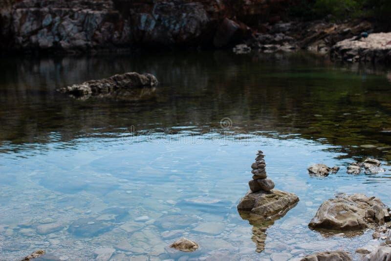 Pöl för dött hav på den Lokrum ön, Kroatien royaltyfria bilder
