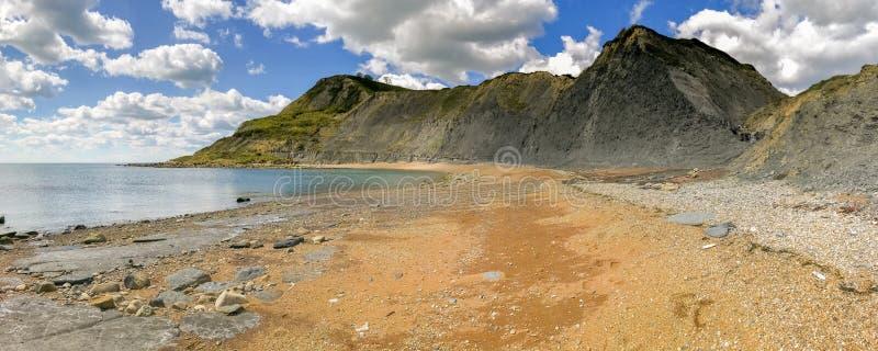 Pöl för gårdfarihandlare` s, Jurassic kust, Dorset, UK arkivbilder