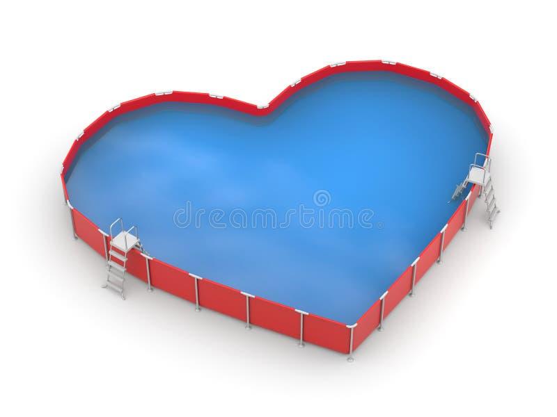 Pöl i form av hjärta vektor illustrationer