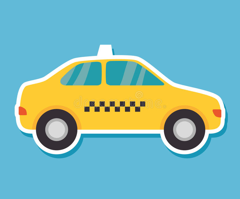 Público del servicio del taxi ilustración del vector