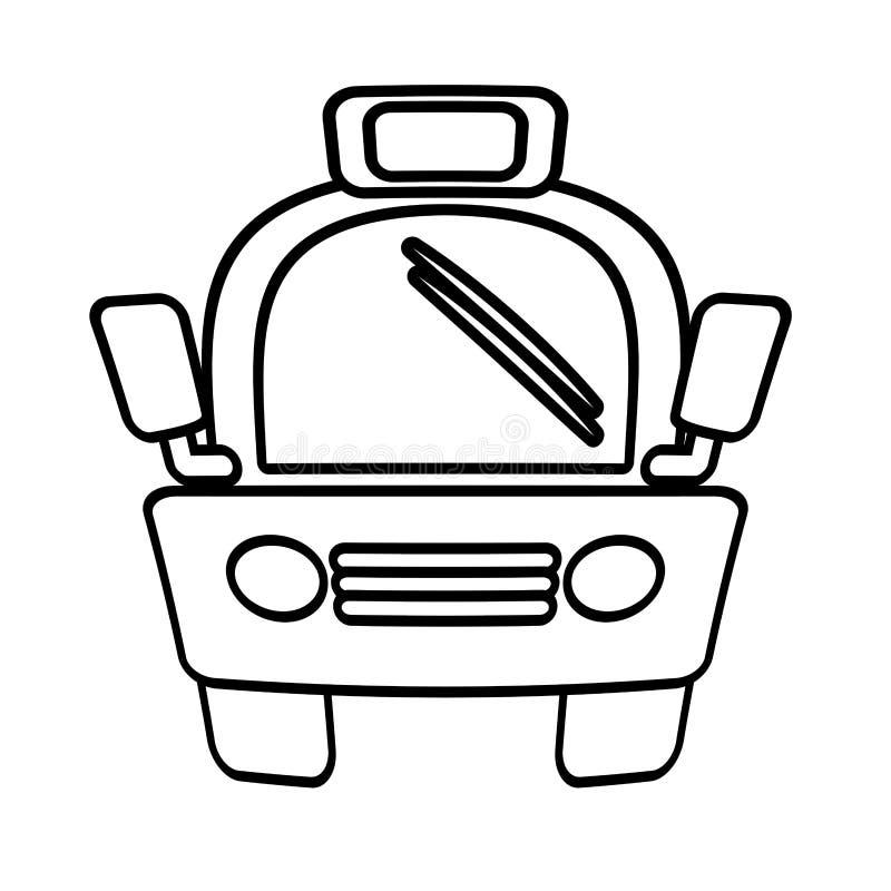 Público do transporte do vehicule do carro do táxi do esboço ilustração do vetor