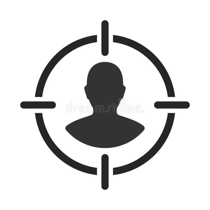 Público objetivo Cliente, alcance del cliente Centricity del consumidor Muestra del ser humano del objetivo stock de ilustración