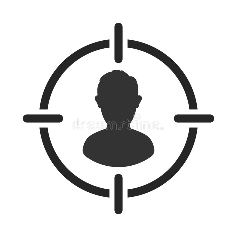 Público objetivo Cliente, alcance del cliente Centricity del consumidor Muestra del ser humano del objetivo libre illustration