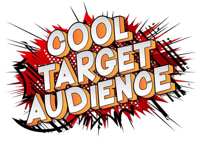 Público objetivo fresco - palabra del estilo del cómic ilustración del vector