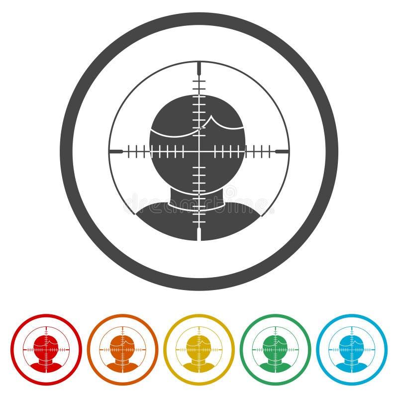 Público objetivo, icono de la blanco del usuario libre illustration