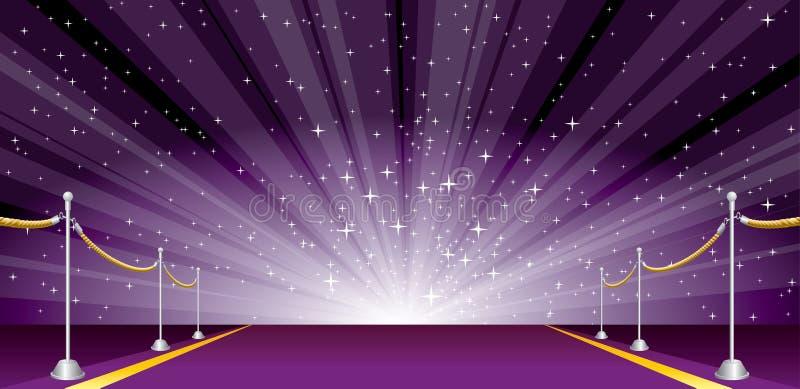 Púrpura amplia de la explosión libre illustration