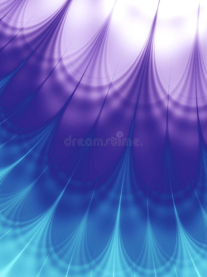 Púrpura azul fresca de los modelos de onda libre illustration