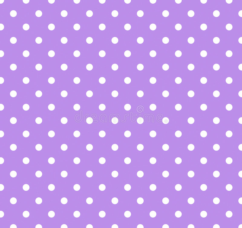 Púrpura con los puntos de polca blancos libre illustration