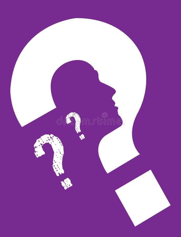 Púrpura de la identidad personal stock de ilustración
