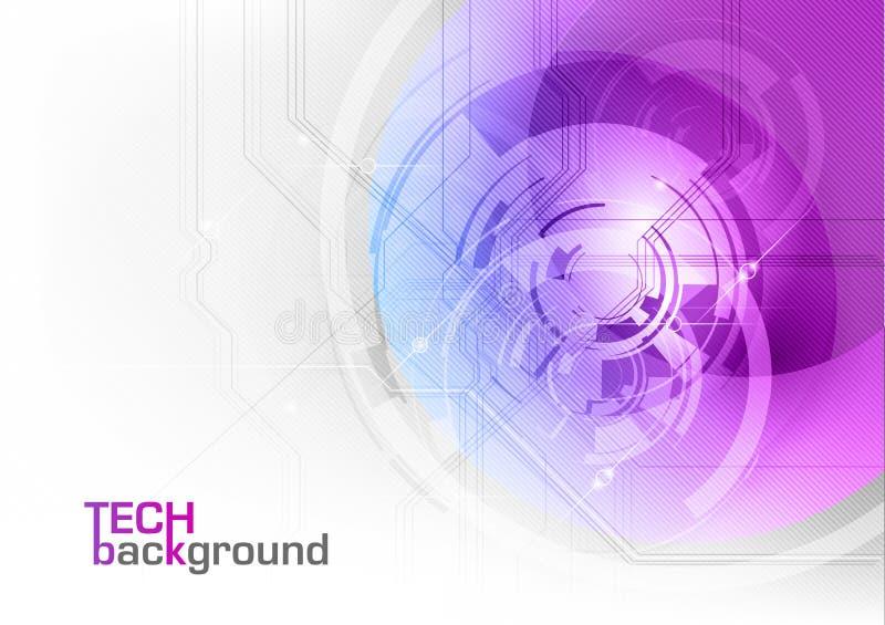 Púrpura de la tecnología libre illustration